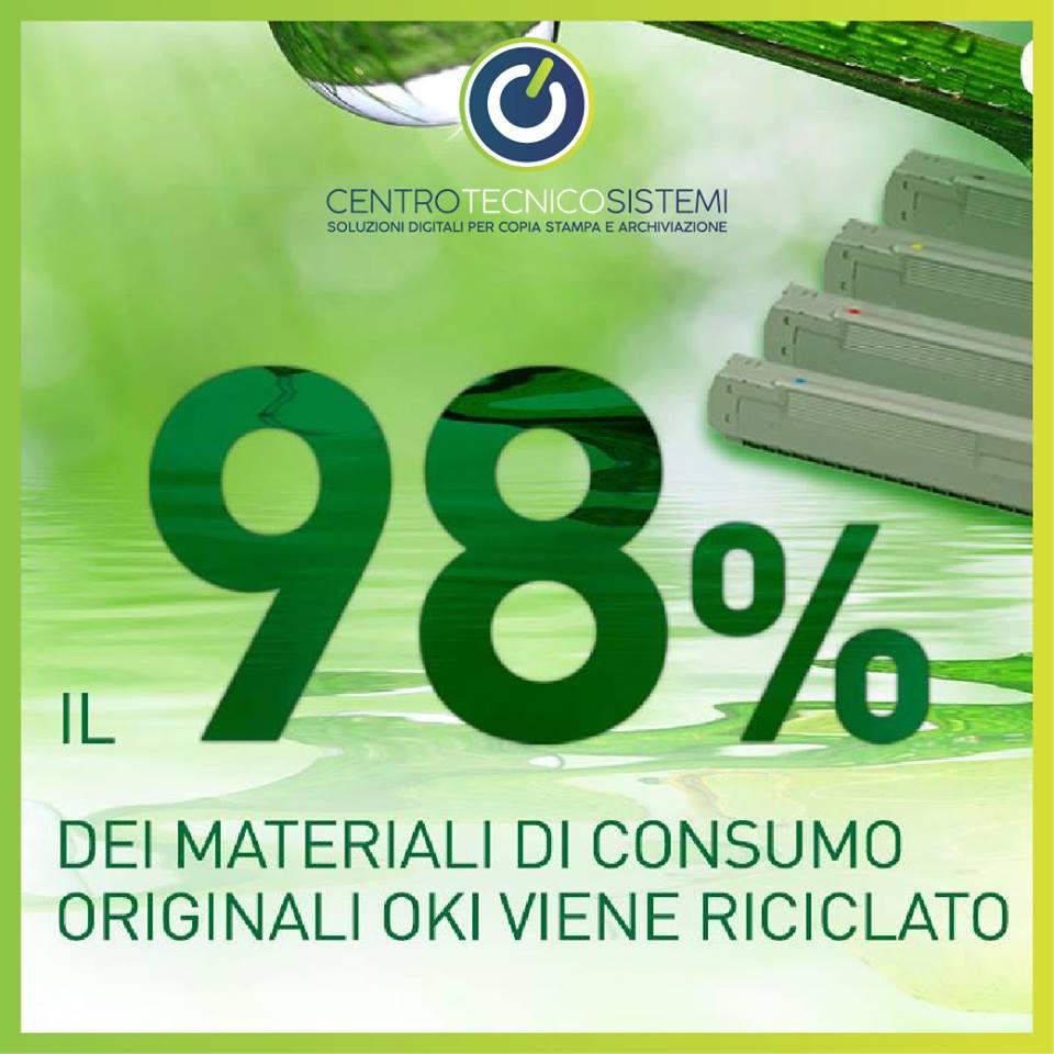 Oki ricicla per il 98%
