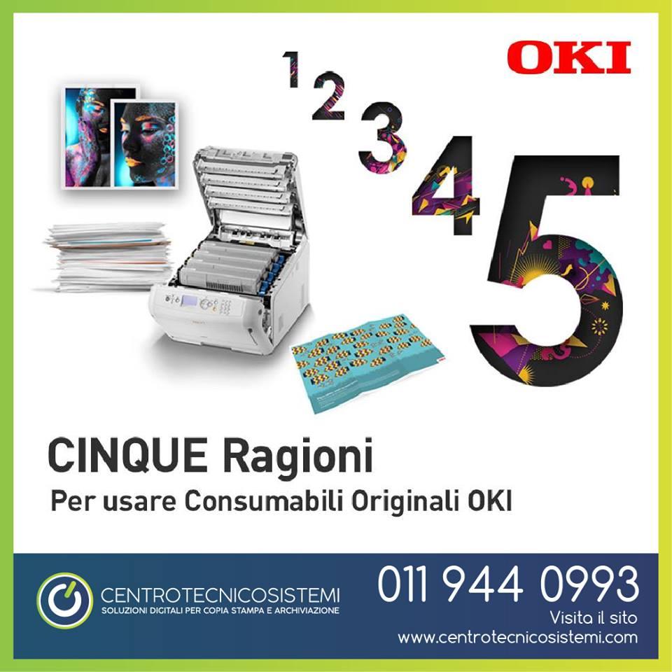 5 motivi per cui utilizzare i materiali di consumo originali OKI