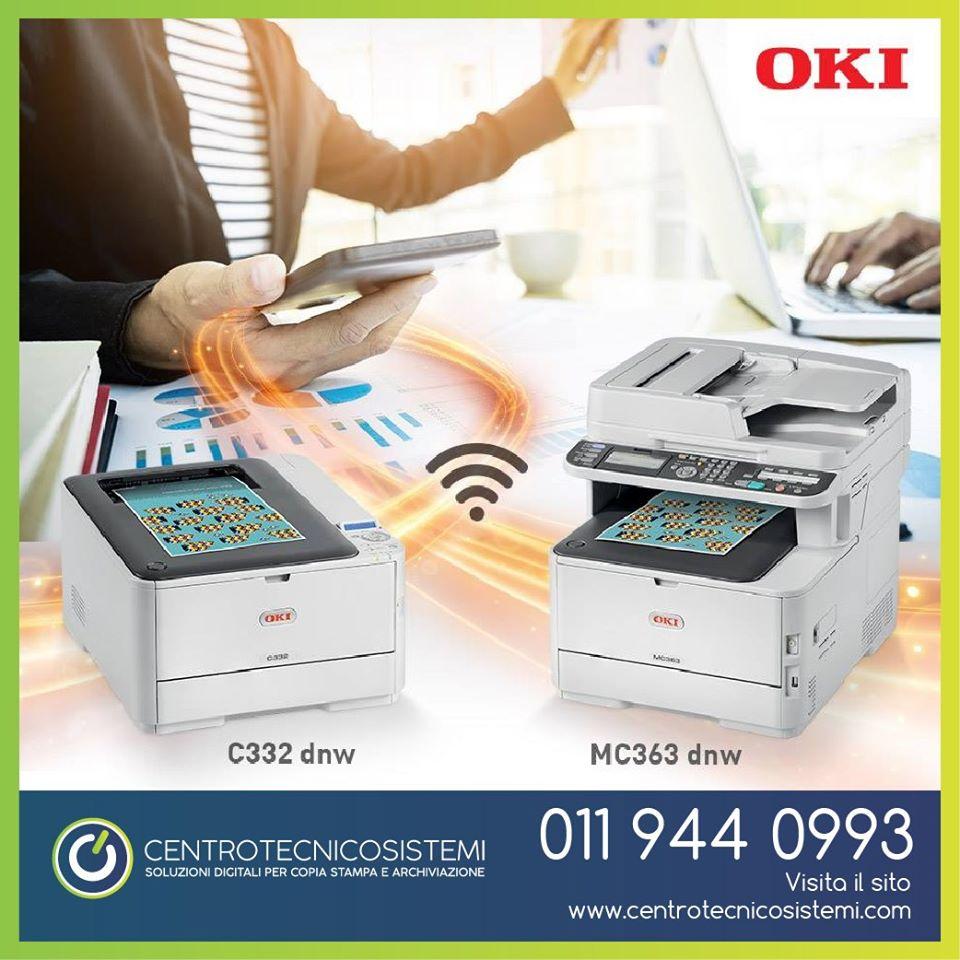 Le nuove C332dnw e MC363dnw con connettività wireless