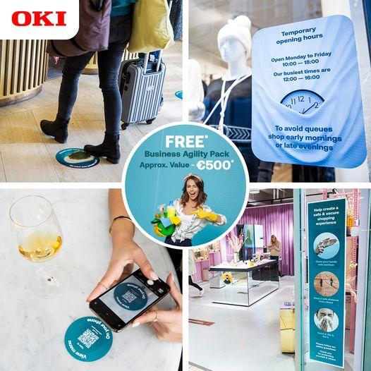 """OKI Europe offre un """"Adapt Today"""" Business Agility Pack del valore di circa 500€*"""