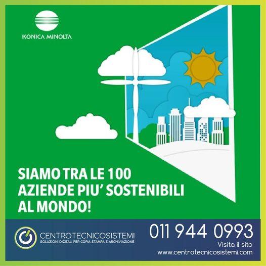 Konica Minolta fra le 100 aziende globali più sostenibili al mondo nel 2021